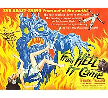 B Movie: From Hell Photographic Print