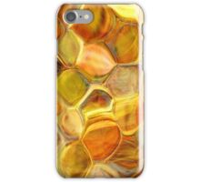 golden honeycomb abstract art iPhone Case/Skin