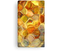 golden honeycomb abstract art Canvas Print