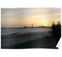 sunset over Channel Islands beach Poster