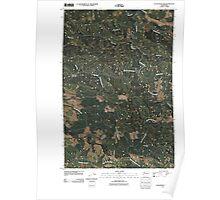 USGS Topo Map Washington State WA Elochoman Pass 20110406 TM Poster