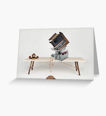 Organ grinder Greeting Card