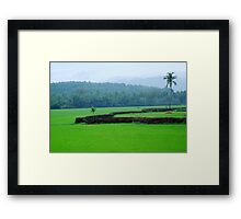 happy alone Framed Print