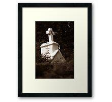 standding behind you Framed Print