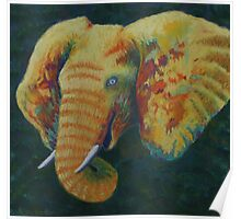 Mello Elephant with light blue eyes Poster