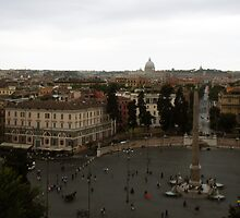 """The Piazza Di Popolo over Rome"" by Micah Samter"