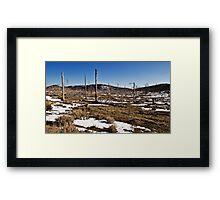 Deserted Mountaintop Framed Print