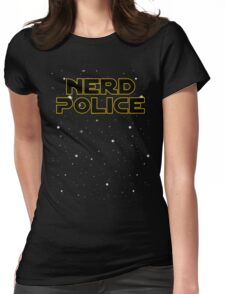 Star Wars Theem (nerd Police) Womens Fitted T-Shirt