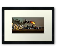 Smokey Display Framed Print