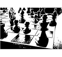 Chess gamer Photographic Print