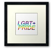 LGBT+ pride products Framed Print