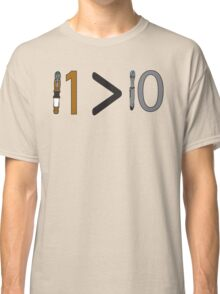 Doctor who 11 is greater than 10 Classic T-Shirt