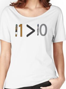 Doctor who 11 is greater than 10 Women's Relaxed Fit T-Shirt