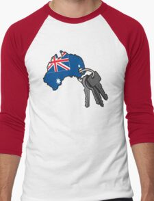 Keys to Australia  Men's Baseball ¾ T-Shirt