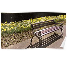 Sitting place in spring Poster
