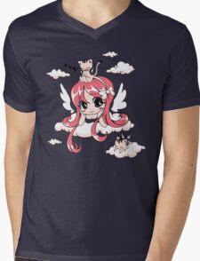 Kitty Heaven Mens V-Neck T-Shirt