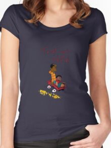 Troy and Abed ride together Women's Fitted Scoop T-Shirt