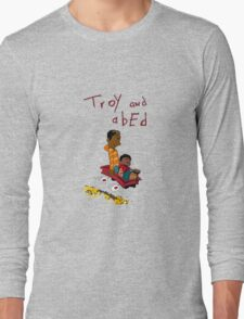 Troy and Abed ride together Long Sleeve T-Shirt