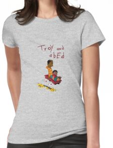 Troy and Abed ride together Womens Fitted T-Shirt