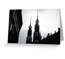 Eclipsed by Architecture Greeting Card