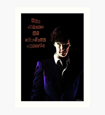 The return of Sherlock Holmes Art Print