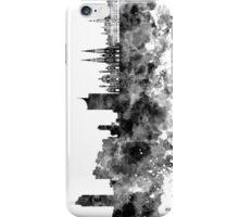 Vienna skyline in black watercolor iPhone Case/Skin