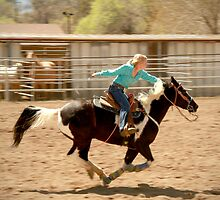 Riding Toward the Barrels by Corri Gryting Gutzman