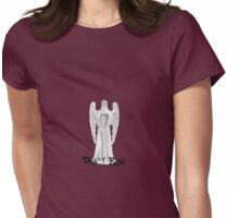 Don't Blink - DW Weeping Angels Womens Fitted T-Shirt