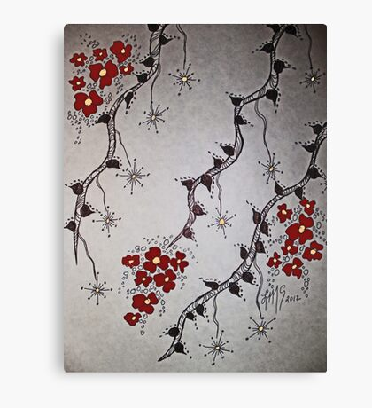 Ink Blossoms... Canvas Print