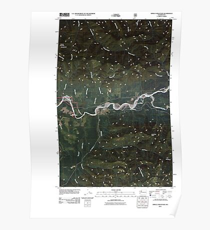 USGS Topo Map Washington State WA Spruce Mountain 20110506 TM Poster