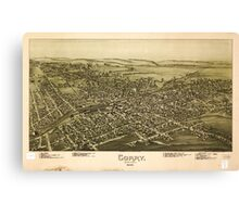 Panoramic Maps Corry Pennsylvania 1895 Canvas Print