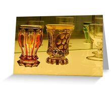 Coloured Glasses Greeting Card