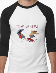 Troy and Abed Falling Men's Baseball ¾ T-Shirt