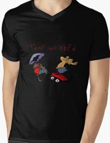 Troy and Abed Falling Mens V-Neck T-Shirt