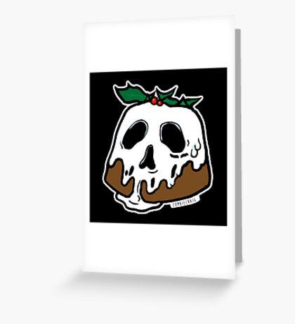 Poison Christmas Pudding Greeting Card