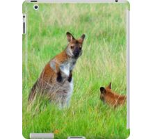Spooked Wallaby in the Field iPad Case/Skin