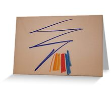 Abstract Pastel 3 Greeting Card