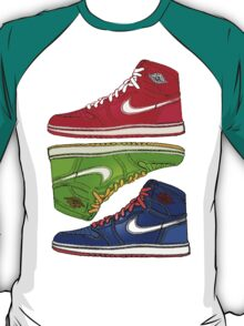 AIR JORDANS 1 RETRO FITTED: RED|GREEN|BLUE T-Shirt