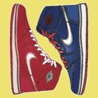 AIR JORDAN 1 RETRO: RED MEETS BLUE by SOL  SKETCHES™