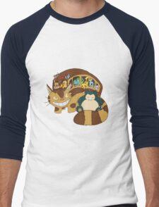 Poke' School Bus Men's Baseball ¾ T-Shirt