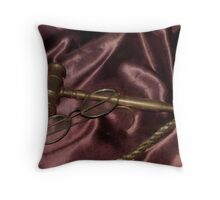 Thru the eyes of Justice Throw Pillow