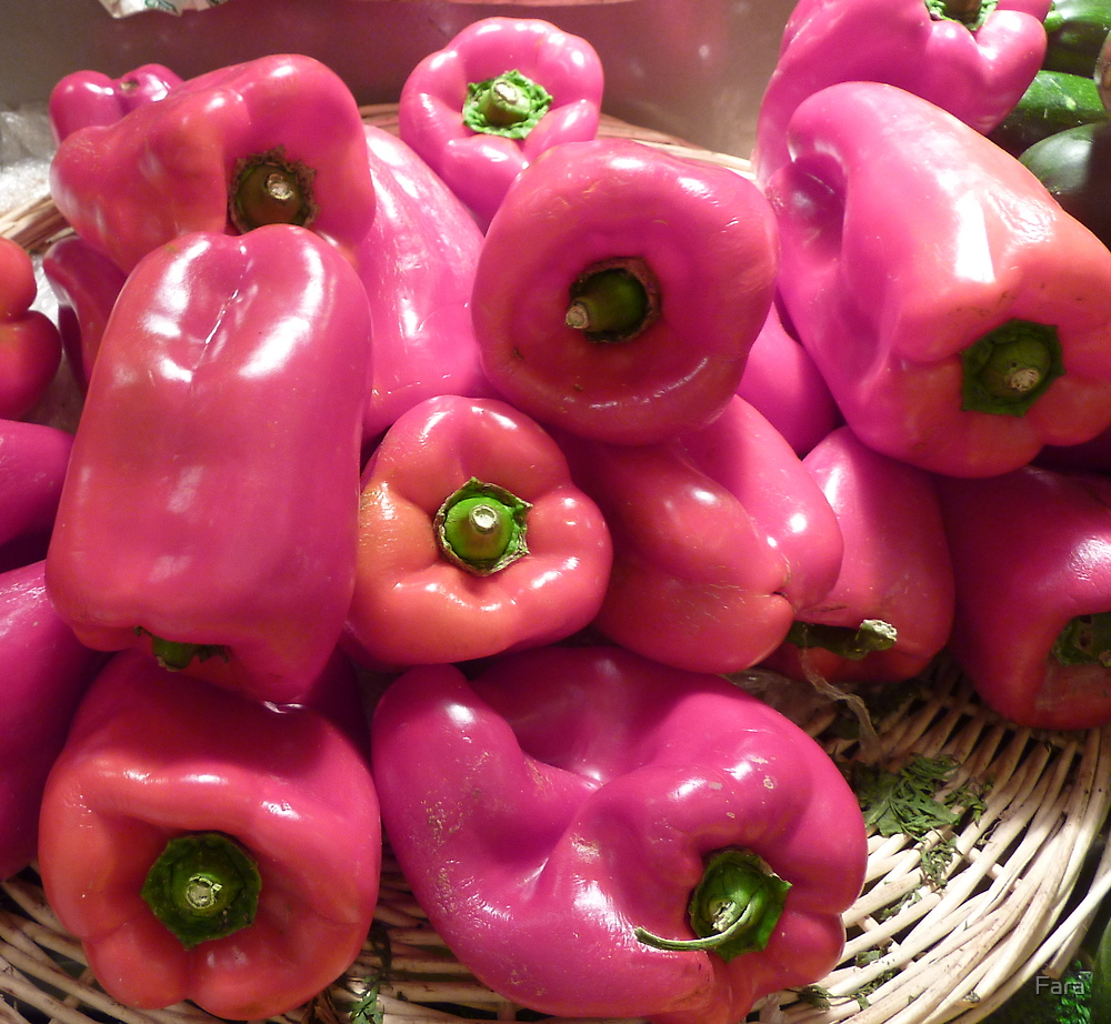 Pink Peppers  by Fara