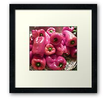 Pink Peppers  Framed Print