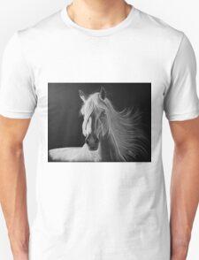 """""""A White Beauty"""" - Lusitano stallion T-Shirt"""