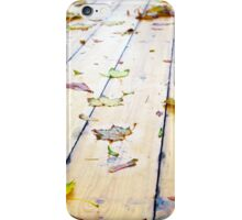 Selective focus on wet fallen autumn maple leaves closeup iPhone Case/Skin
