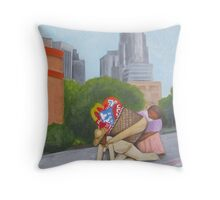 nothing seems to change , an homage to diego rivera Throw Pillow