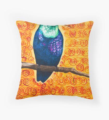 aztec hummingbird Throw Pillow