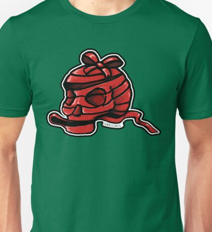 Red Ribbon Skull Unisex T-Shirt