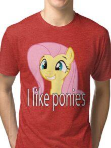 Simple Fluttershy Tri-blend T-Shirt