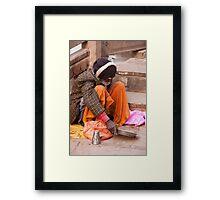 Colorful Beggar Framed Print